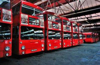 Busdepot London 1976